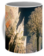 Large Stone Church At Night Coffee Mug