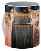 Large Winch With Steel Cable Coffee Mug