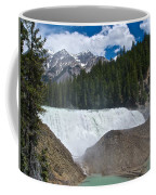 Larger View Of Wapta Falls In Yoho Np-bc Coffee Mug