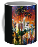 Las Vegas - Palette Knife Oil Painting On Canvas By Leonid Afremov Coffee Mug