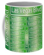 Las Vegas Street Road Signs  Coffee Mug