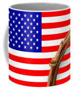 Lasso And American Flag Coffee Mug