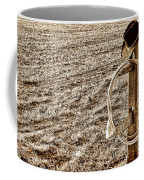 Lasso And Hat On Fence Post Coffee Mug