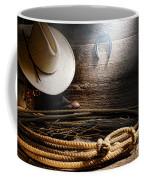 Lasso In Old Barn Coffee Mug