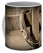 Lasso On Fence Post Rustic Coffee Mug