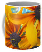 Last Holdouts Of The Season - Black Eyed Susans - Floral Photography Coffee Mug