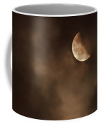 Last Stage Of The Total Lunar Eclipse April 15 Blood Moon Through The Clouds Coffee Mug