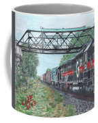 Last Train Under The Bridge Coffee Mug by Cliff Wilson