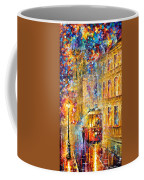 Last Trolley - Palette Knife Oil Painting On Canvas By Leonid Afremov Coffee Mug