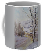 Last Winter Sunset Snow Scene Coffee Mug