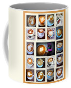 Latte Art Collage Coffee Mug