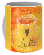 Latte Coffee Mug by Linda Woods