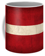 Latvia Flag Vintage Distressed Finish Coffee Mug