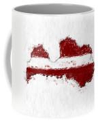 Latvia Painted Flag Map Coffee Mug