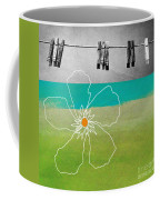 Laundry Day Coffee Mug by Linda Woods