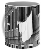 Laundry IIi Black And White Venice Italy Coffee Mug