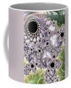 Lavender And Green Fractal Abstract  Coffee Mug