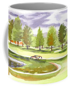 Lavender And Green Coffee Mug