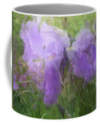 Lavender Blue Iris Garden Coffee Mug