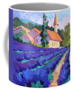 Lavender Field In St. Columne Coffee Mug