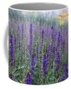 Lavender In The City Park Coffee Mug
