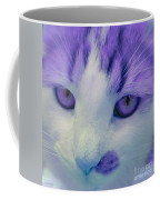 Lavender Kitten Coffee Mug