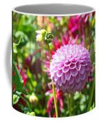 Lavender Purple Dahlia Flowers Art Prints Coffee Mug