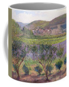Lavender Seen Through Quince Trees Coffee Mug by Timothy  Easton