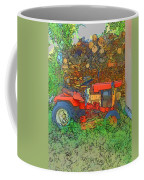 Lawn Tractor And Wood Pile Coffee Mug