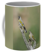 Lawrences Goldfinch Pair Perched Coffee Mug
