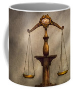 Lawyer - Scale - Fair And Just Coffee Mug by Mike Savad