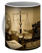 Lawyer - The Lawyer's Desk In Black And White Coffee Mug