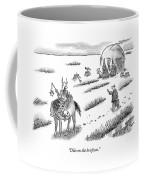 Laywer Chasing After A Barbarian Coffee Mug