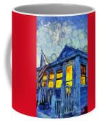 Lazy Daze Beach Cottage On Fourth Of July Coffee Mug by Edward Fielding