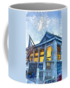 Lazy Daze Beach Cottage Pencil Sketch Coffee Mug