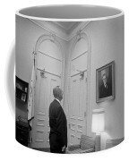 Lbj Looking At Fdr Coffee Mug by War Is Hell Store