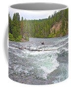 Le Hardy Rapids In Yellowstone River In Yellowstone National Park-wyoming   Coffee Mug