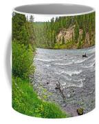 Le Hardy Rapids Of Yellowstone River In Yellowstone River In Yellowstone National Park-wyoming   Coffee Mug