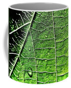 Leaf Abstract - Macro Photography Coffee Mug