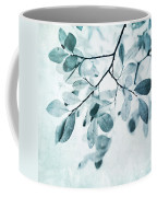 Leaves In Dusty Blue Coffee Mug by Priska Wettstein