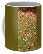 Leaves On Grass Coffee Mug