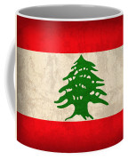 Lebanon Flag Vintage Distressed Finish Coffee Mug