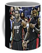 Lebron James And Dwyane Wade Coffee Mug