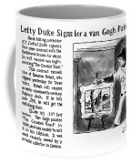Lefty Duke Signs For A Van Gogh Painting Coffee Mug