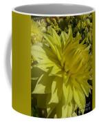 Lemon Yellow Dahlia  Coffee Mug