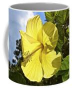 Lemon Yellow Hibiscus Coffee Mug