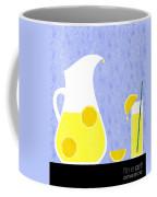 Lemonade And Glass Blue Coffee Mug