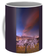Lenticular Clouds Over Almond Trees Coffee Mug