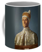 Leonardo Loredan 1436-1521 Doge Of Venice From 1501-21, C.1501 Oil On Panel Coffee Mug