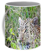 Leopard In The Grass Coffee Mug